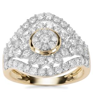 Canadian Diamond Ring in 9K Gold 1.50cts