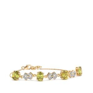 Ambilobe Sphene Bracelet with Diamond in 18K Gold 6.07cts