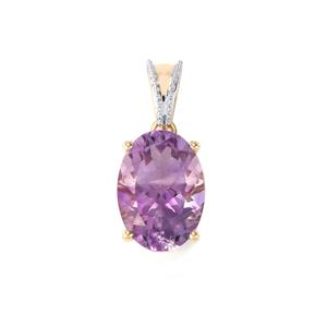 Moroccan Amethyst Pendant in 10K Gold 4.74cts