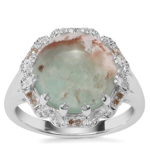 Aquaprase™ Ring with Champagne Diamond in Sterling Silver 5.05cts