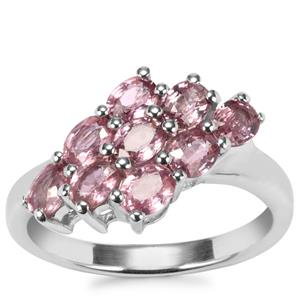 Sakaraha Pink Sapphire Ring in Sterling Silver 1.97cts
