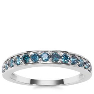 Blue Diamond Ring in 9K White Gold 0.50ct