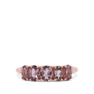 Mahenge Purple Spinel Ring in 9K Rose Gold 1.38cts