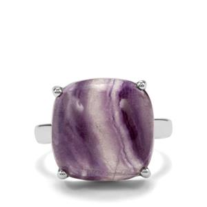 Argentine Rainbow Fluorite Ring in Sterling Silver 14.40cts