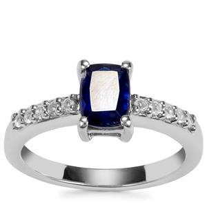 Daha Kyanite Ring with White Topaz in Sterling Silver 1.34cts