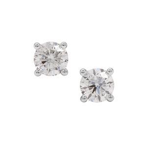 Diamond Earrings in 18K Gold 1cts