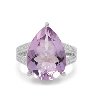 Rose De France Amethyst Ring in Sterling Silver 12cts