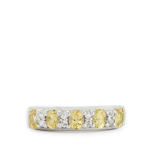 Ouro Preto Imperial Topaz & White Topaz Sterling Silver Ring ATGW 1.19cts