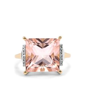 Galileia Topaz Ring with Diamond in 9K Gold 9.50cts