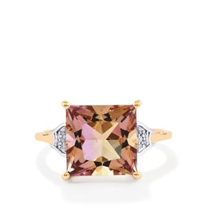 Anahi Ametrine Ring with Diamond in 9K Rose Gold 4.60cts