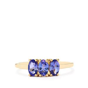 AA Tanzanite Ring  in 10k Gold 1.01cts