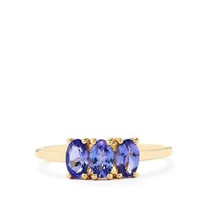 AA Tanzanite Ring in 9K Gold 1.01cts