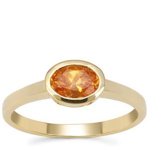 Mandarin Garnet Ring in 9K Gold 0.95ct