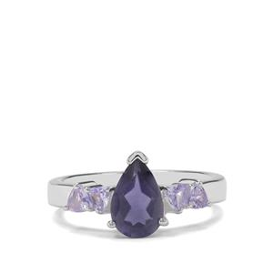 Bengal Iolite & Tanzanite Sterling Silver Ring ATGW 1.47cts