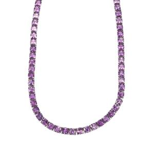Moroccan Amethyst Necklace in Sterling Silver 62.80cts