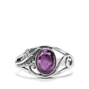 1.36ct Kenyan Amethyst Sterling Silver Ring
