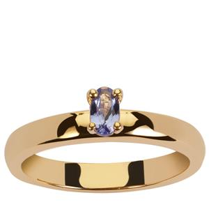 A+ Tanzanite Ring in Gold Vermeil 0.2ct