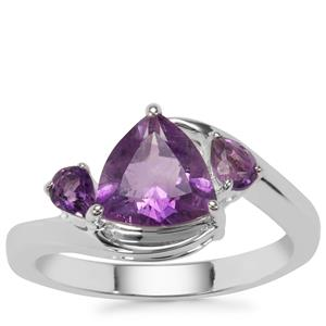 Moroccan Amethyst Ring in Sterling Silver 1.91cts