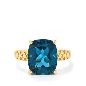 Marambaia London Blue Topaz Ring in 10k Gold 6.56cts