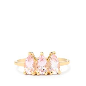 Imperial Pink Topaz Ring in 10k Gold 1.59cts
