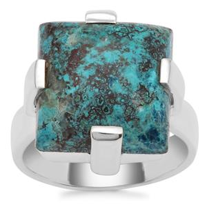 Namibian Shattuckite Ring in Sterling Silver 10.50cts