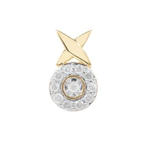 1/5ct Diamond 9K Gold Pendant