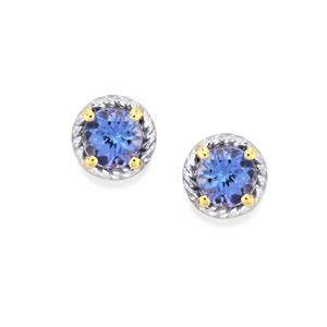 AA Tanzanite Earrings in 10k Gold 1.27cts