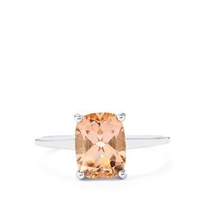 2.53ct Galileia Topaz 9K White Gold Ring