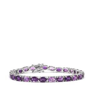 Zambian Amethyst Bracelet in Platinum Plated Sterling Silver 12.25cts