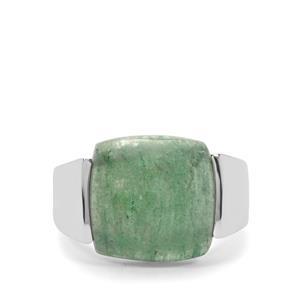 12ct Kiwi Quartz Sterling Silver Ring
