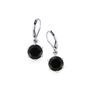 Black Spinel Earrings in Sterling Silver 9.48cts