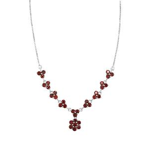 Rajasthan Garnet Necklace in Sterling Silver 5.12cts