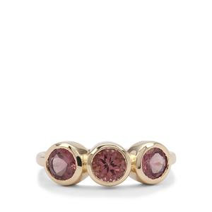 Mahenge Pink Spinel Ring in 9K Gold 1.65cts