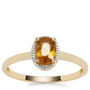Morafeno Sphene Ring in 9K Gold 0.92cts