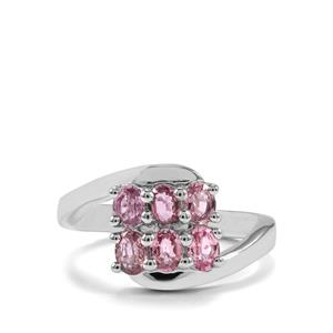 Pink Sapphire Ring in Sterling Silver 1.26cts