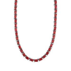 30.60ct Malagasy Ruby Sterling Silver Necklace (F)