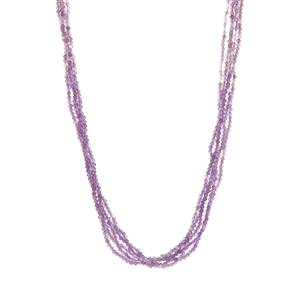Bahia Amethyst Magnetic Lock Necklace in Sterling Silver 162.33cts