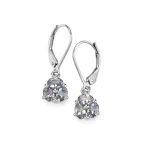 1.53ct Bi Colour Tanzanite Sterling Silver Earrings