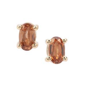 0.70ct Capricorn Zircon 9K Gold Earrings