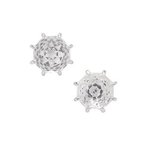Efflorescence Optic Quartz Earrings in Sterling Silver 5.75cts
