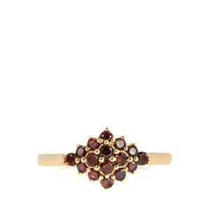 1/2ct Red Diamond 9K Gold Ring