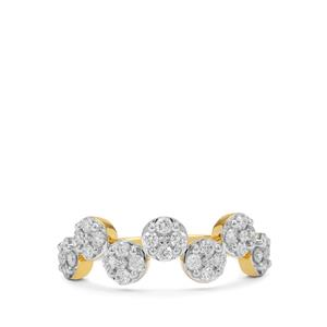 GH Diamond Ring in 18K Gold 0.51cts