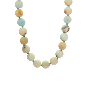 Green Amazonite Necklace in Rhodium Flash Sterling Silver 362cts