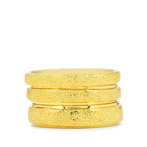 Set of 3 Stacker Rings in Gold Plated Sterling Silver