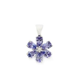 1.96ct AA Tanzanite 9K White Gold Pendant