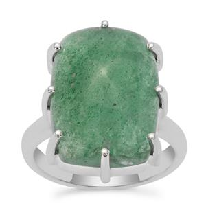 Kiwi Quartz Ring in Sterling Silver 14cts