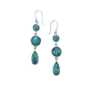 Bonita Blue Turquoise Earrings in Sterling Silver 24.95cts