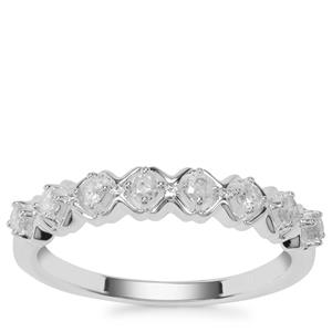 Diamond Ring in Sterling Silver 0.29ct
