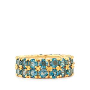 10.40ct Marambaia London Blue Topaz Gold Vermeil Ring