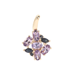 Natural Hot Pink Spinel Pendant with Blue Sapphire in 9K Gold 1.38cts